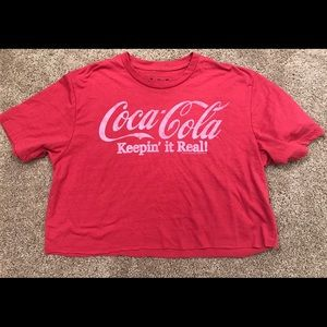 Coca-Cola red crop top